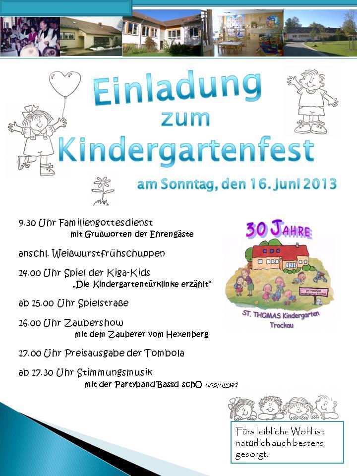 Kindergartenfest Trockau